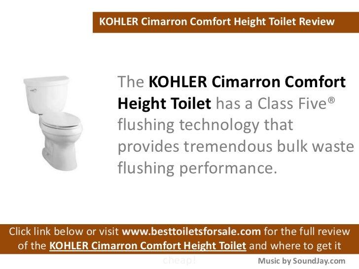 Kohler K 3609 Cimarron Comfort Height Toilet