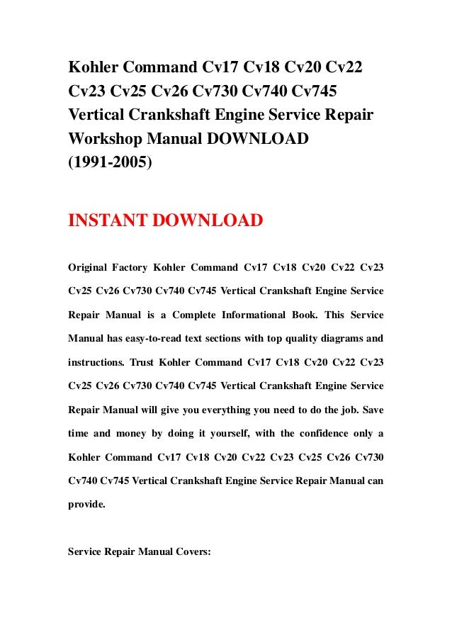 kohler command cv17 cv18 cv20 cv22 cv23 cv25 cv26 cv730 kohler ignition switch wiring diagram kohler 23 hp engine parts diagram