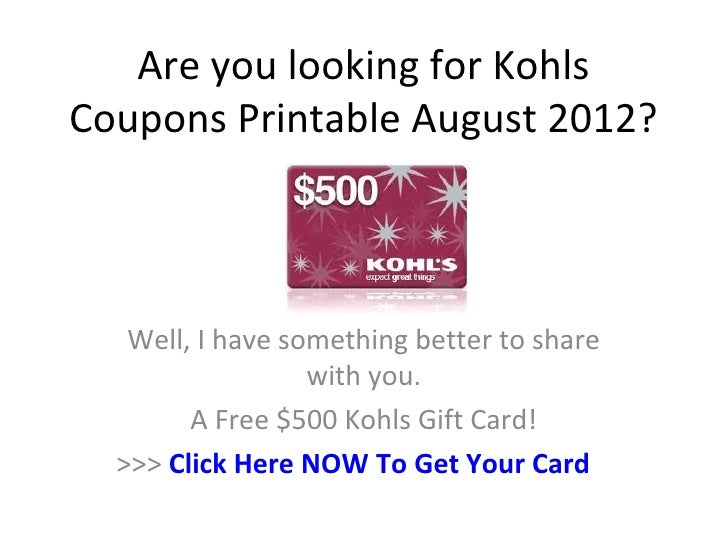 image relating to Kohls Coupons Printable named Kohls Discount codes Printable August 2012