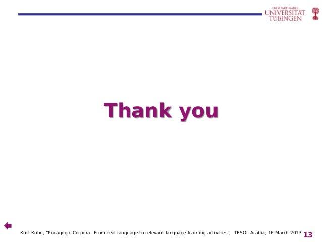 Kohn 2013 Pedagogic corpora: from real language to