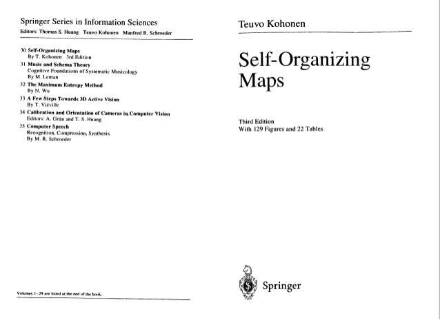 Kohonen: self organising maps