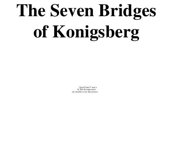 The Seven Bridges  of Konigsberg              QuickTime™ and a            H.264 decompressor      are needed to see this p...