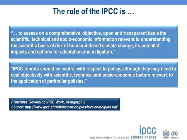 What will the US role be in UN IPCC climate reports?