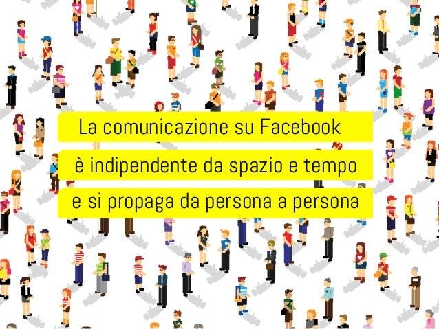 La comunicazione su Facebook  è indipendente da spazio e tempo  e si propaga da persona a persona
