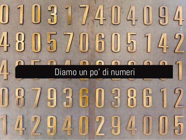 Diamo un po' di numeri