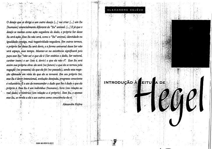 Introdução à leitura de Hegel, Alexandre Kojève