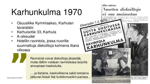 Karhunkulma 1970 • Osuusliike Kyminlaakso, Karhulan tavaratalo • Karhulantie 33, Karhula • A-oikeudet • Hotellin ravintola...