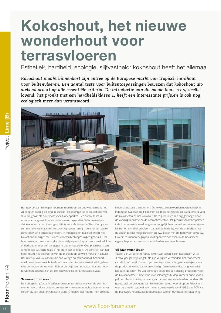 Kokoshout, het nieuwe                    wonderhout voor                    terrasvloeren                    Esthetiek, ha...