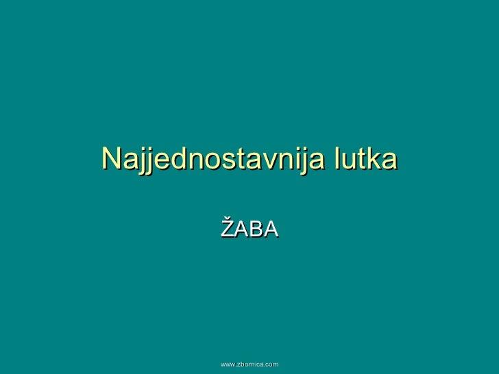 Najjednostavnija lutka ŽABA www.zbornica.com