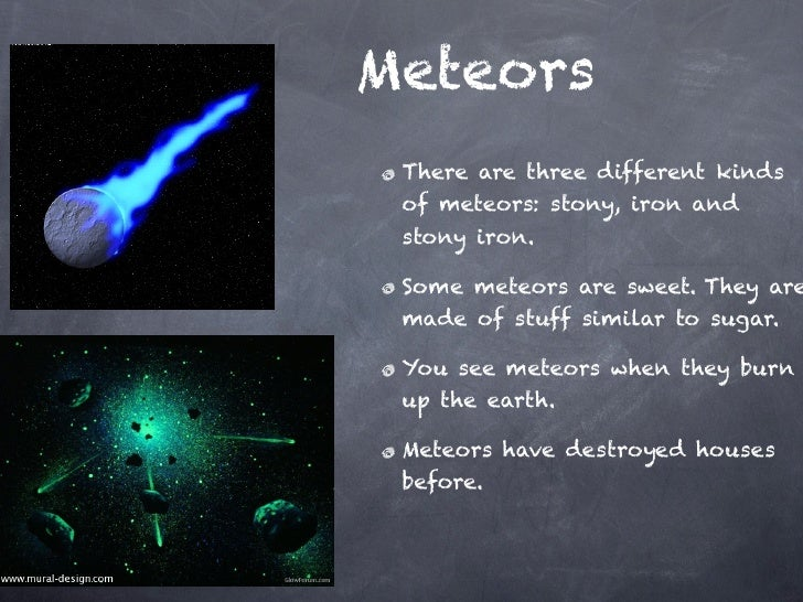 all comets asteroids and meteors together - photo #37