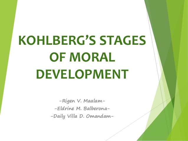 kolbergs stages of moral development Key points lawrence kohlberg expanded on the earlier work of cognitive theorist jean piaget to explain the moral development of children, which he believed follows a series of stages kohlberg defined three levels of moral development: preconventional, conventional, and postconventional each level has two distinct stages.