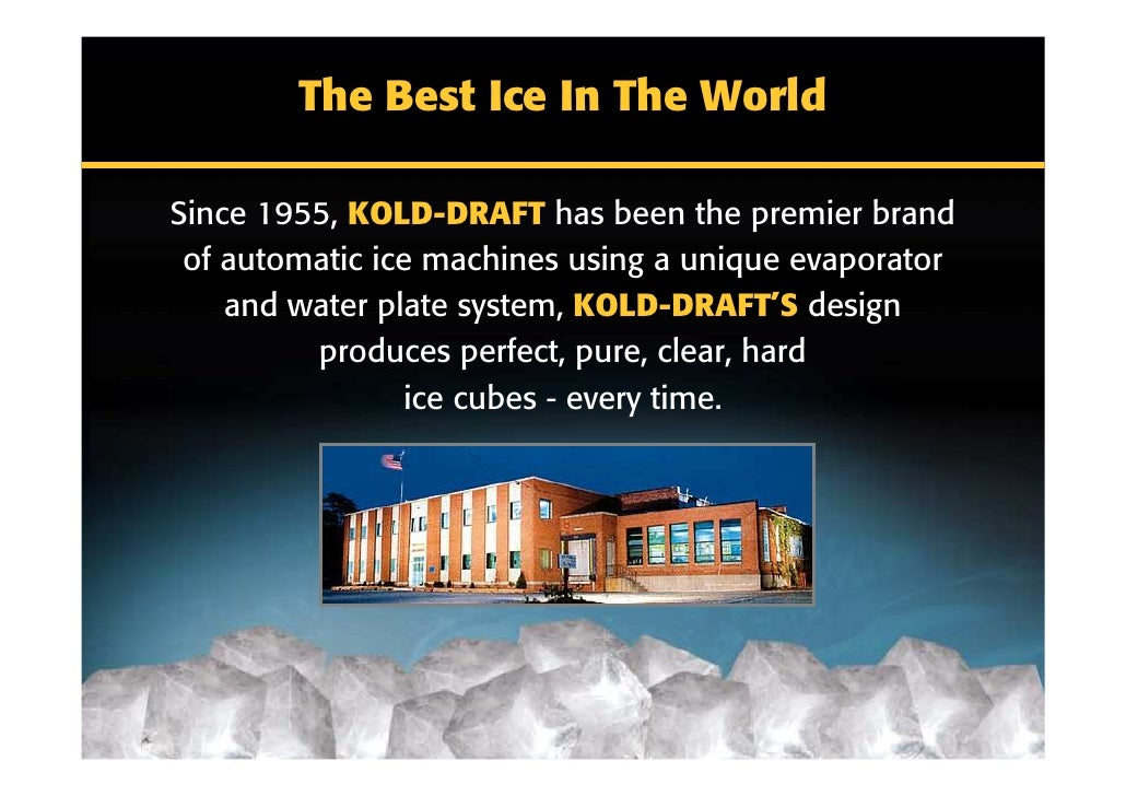 cold draft machine