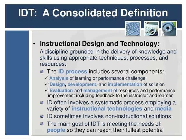 Kolencik Definition Of Instructional Design And Technology