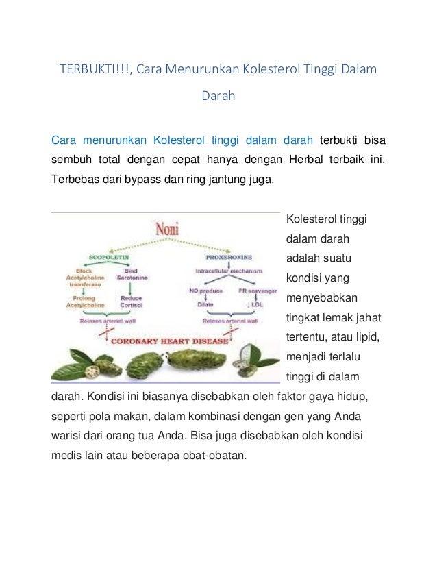 TERBUKTI!!!, Cara Menurunkan Kolesterol Tinggi Dalam Darah Cara menurunkan Kolesterol tinggi dalam darah terbukti bisa sem...