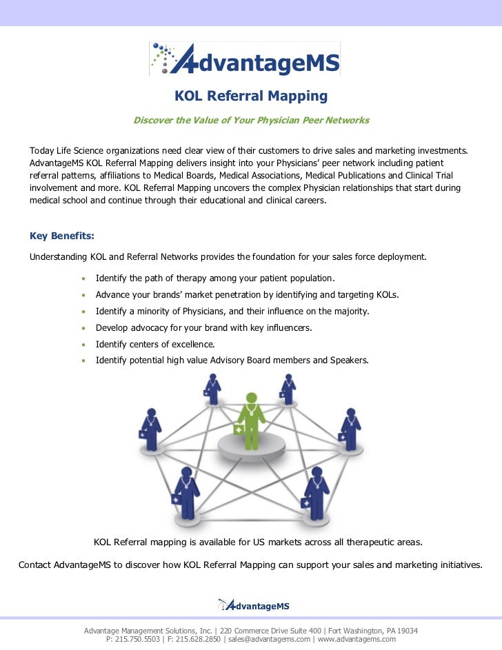 KOL Referral Mapping 2011 on