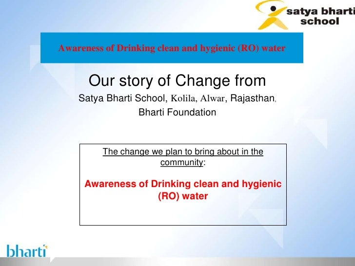 Awareness of Drinking clean and hygienic (RO) water      Our story of Change from    Satya Bharti School, Kolila, Alwar, R...