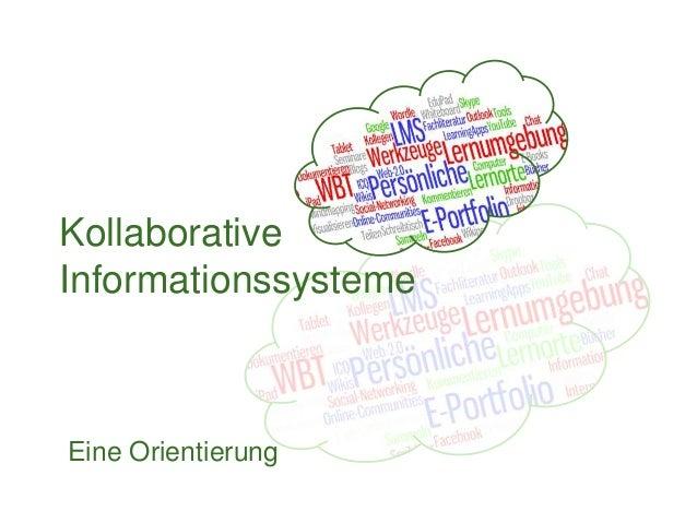 Kollaborative Informationssysteme Eine Orientierung