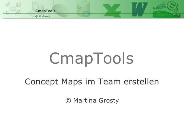 CmapTools 1 12@ M. Grosty Concept Maps im Team erstellen © Martina Grosty CmapTools