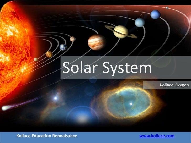 Solar System                                         Kollace Oxygen     Kollace Education Rennaisance   www.kollace.com