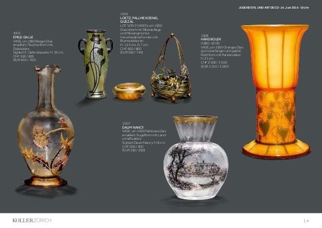 Koller Jugendstil Und Art Deco - Art Déco & Art Nouveau Auction