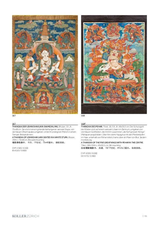 Koller Asian Art: Himalaya, China - Tuesday 05 December 2017 10.00 AM