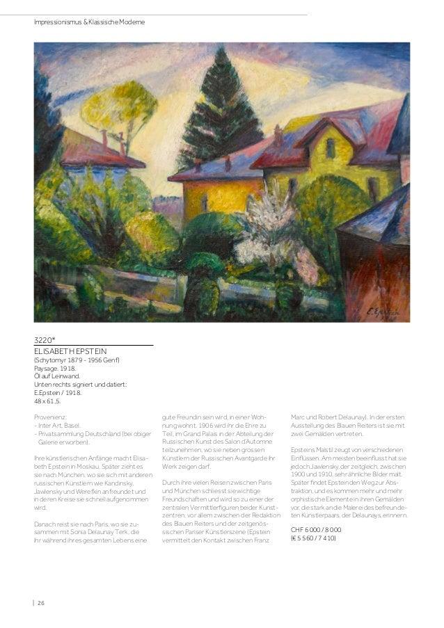 Koller Impressionismus & Klassische Moderne Auktion