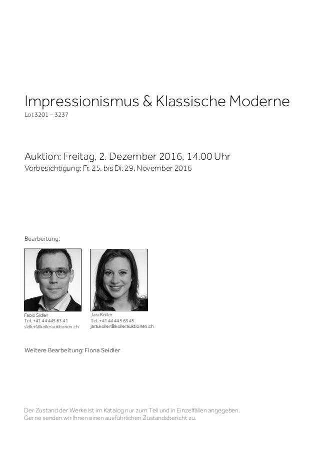 Koller impressionismus klassische moderne 2 dezember for Klassische moderne