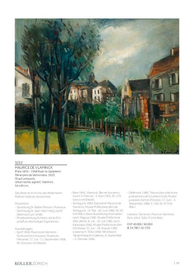 Koller Impressionismus & Klassische Moderne Auktion 7 ...