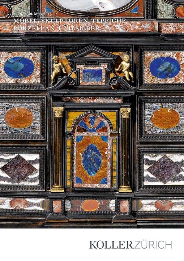 Möbel, Pendulen, Tapisserien, Skulpturen und dekorative Kunst, Silber, Porzellan und Fayence Auktion: Donnerstag, 30. März...