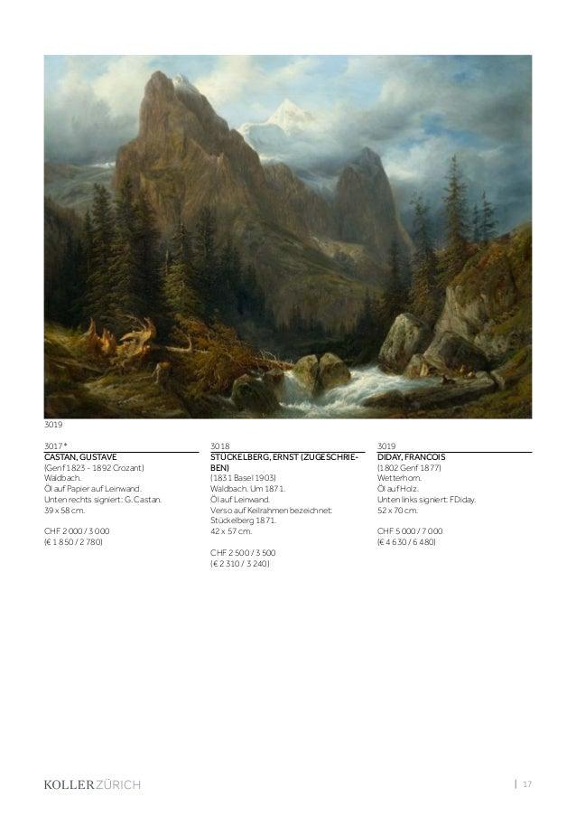 Koller Schweizer Kunst 2. Dezember 2016