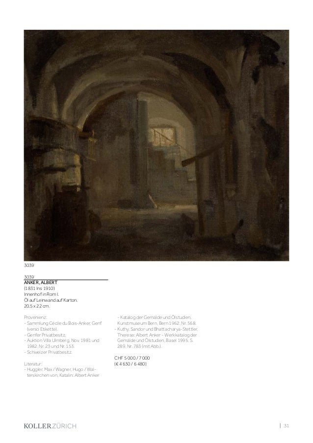 Koller Schweizer Kunst Auktion Freitag, 30. Juni 2017