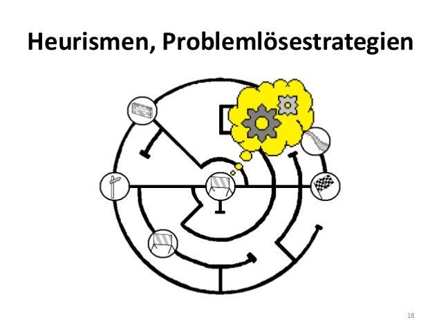 Heurismen, Problemlösestrategien 18