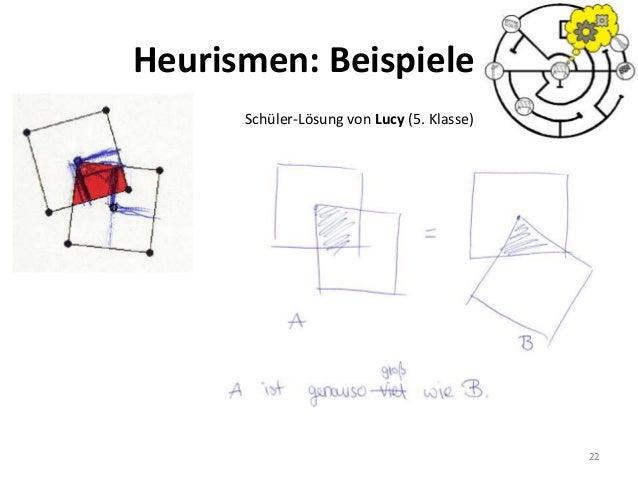 22 Schüler-Lösung von Lucy (5. Klasse) Heurismen: Beispiele