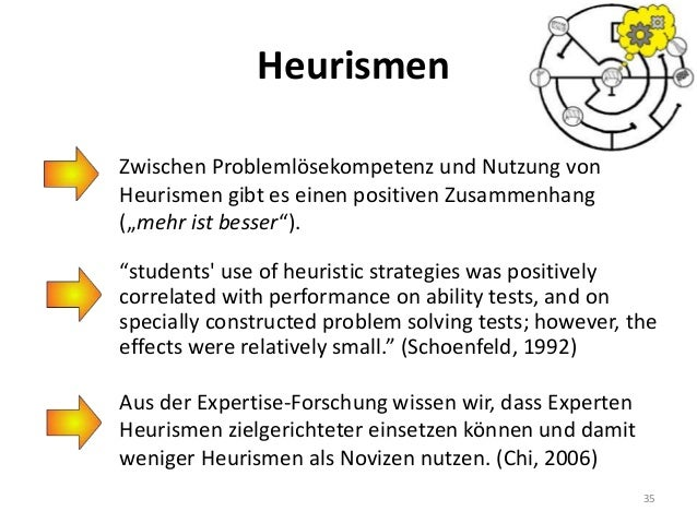 """Heurismen """"students' use of heuristic strategies was positively correlated with performance on ability tests, and on speci..."""
