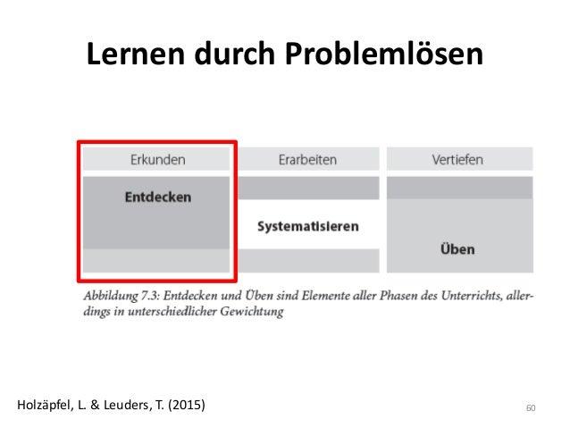 Lernen durch Problemlösen 60Holzäpfel, L. & Leuders, T. (2015)