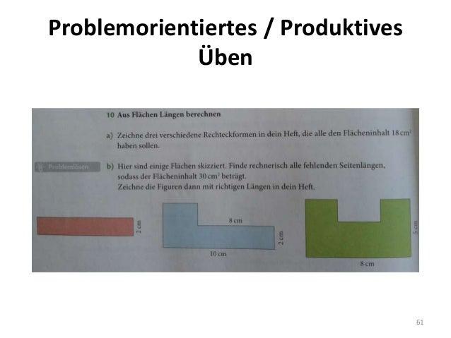 Problemorientiertes / Produktives Üben 61