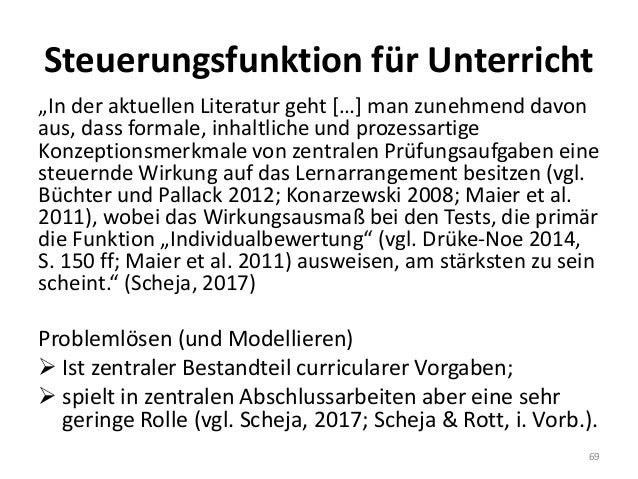 """Steuerungsfunktion für Unterricht """"In der aktuellen Literatur geht […] man zunehmend davon aus, dass formale, inhaltliche ..."""