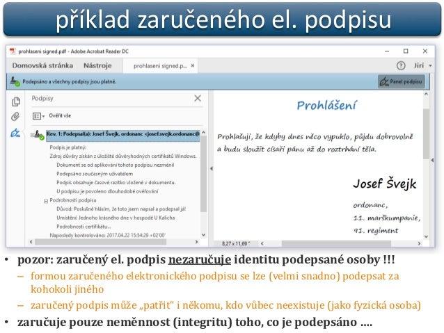 Praktický pohled na elektronické podpisy a jejich fungování  Slide 3