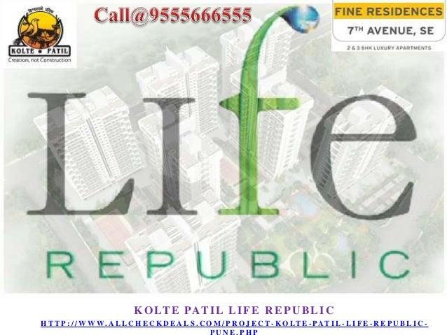 Location: Hinjewadi, Pune Sizes: 600 - 702 sq ft Plans: 1/2/3 BHK Price: 30Lacs (5000/ sq ft) About Project:Kolte Patil Li...