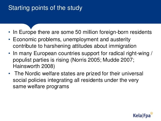 Political parties, socioeconomic  groups and attitudes on immigrants. Evidence from European Social Survey  2002-2014 Slide 2