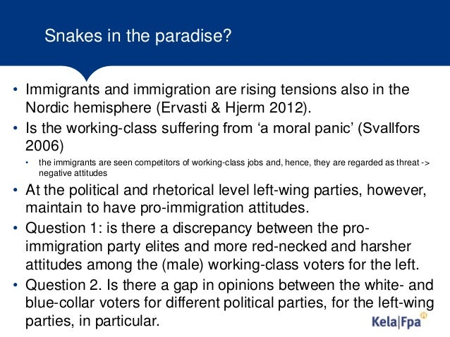 Political parties, socioeconomic  groups and attitudes on immigrants. Evidence from European Social Survey  2002-2014 Slide 3
