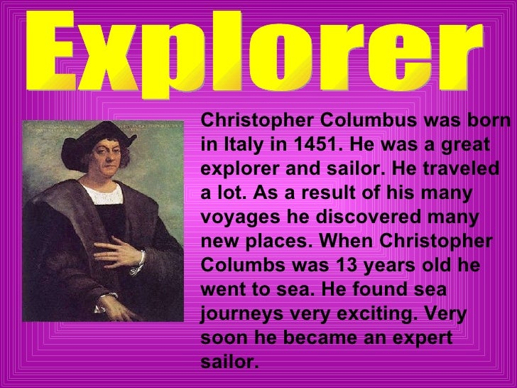 the life and travels of christopher columbus An eyewitness account of columbus's first landfall in renaissance life in a christian monastery, ca 585 the vikings christopher columbus discovers.