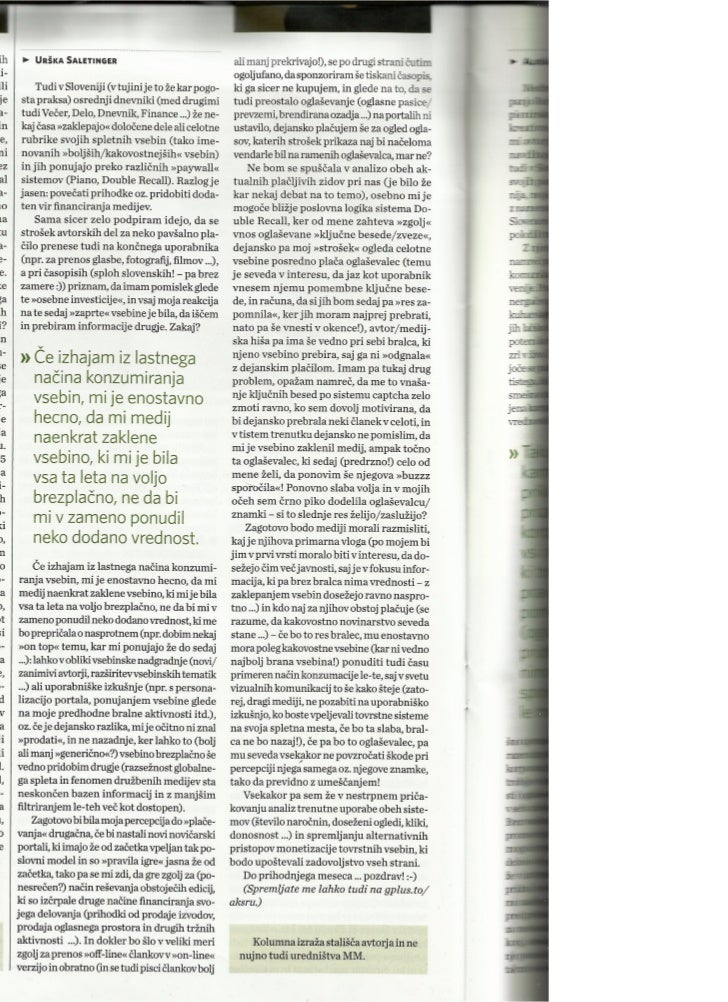 "Sistemi ""placljivih zidov"" mi niso najbolj blizu ..._Marketing Magazin_apr2012_st.371_str.16"