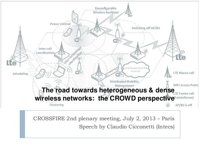 The road towards heterogeneous & dense wireless networks: the CROWD perspective CROSSFIRE 2nd plenary meeting, July 2, 201...
