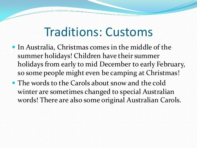 traditions customs in australia christmas