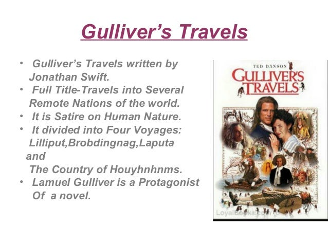 gullivers travel satire Society and satire in gulliver's travels - download as word doc (doc), pdf file (pdf), text file (txt) or read online.