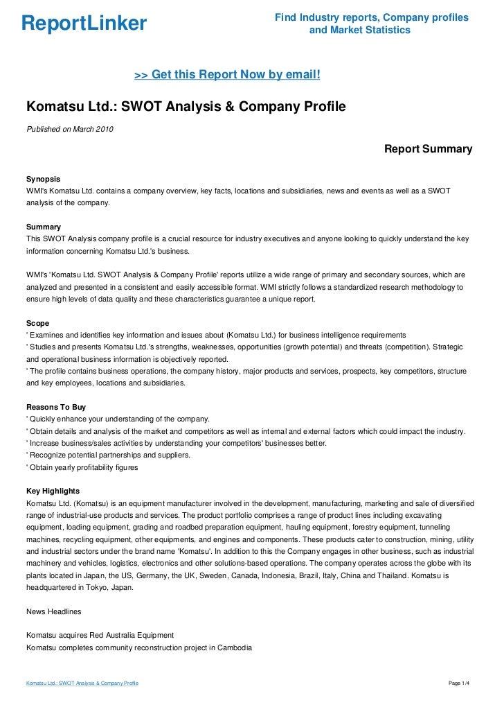 komatsu case analysis worksheet