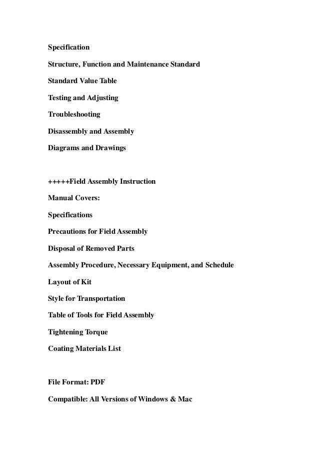 Komatsu d375 a 5e0 dozer bulldozer service repair workshop manual download (sn 50001 and up) Slide 2