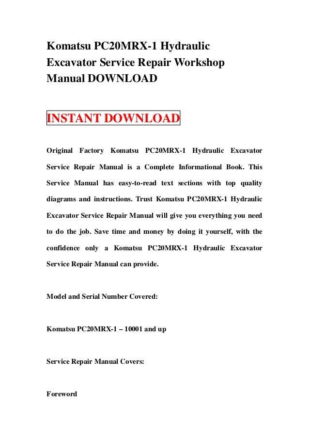 download komatsu excavator pc20mrx 1 pc20 mrx service repair shop manual