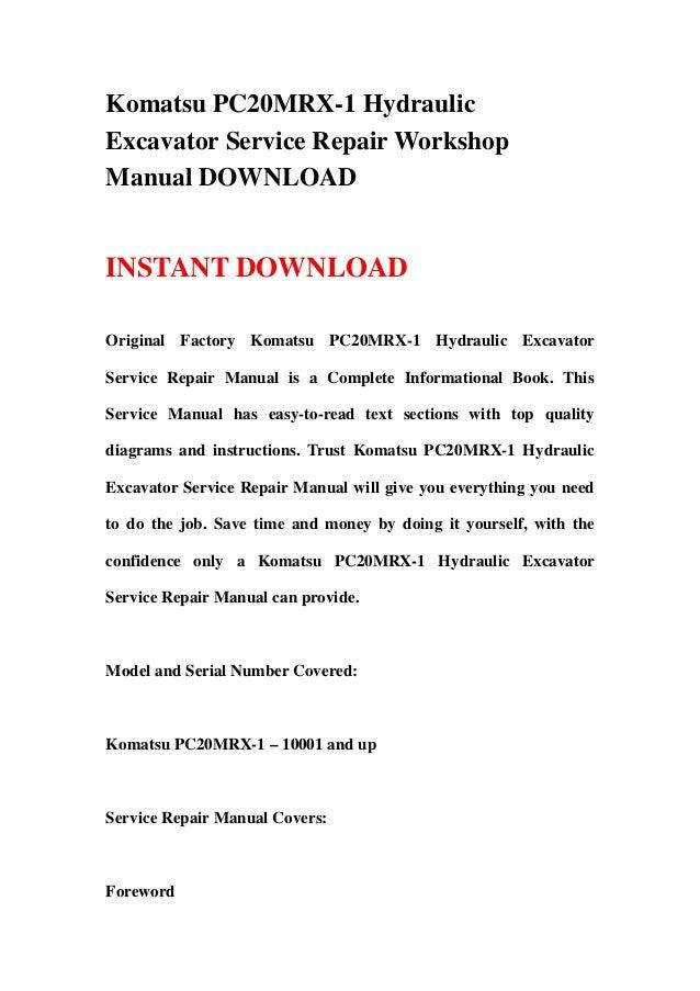 download komatsu pc20mr 2 excavator manual